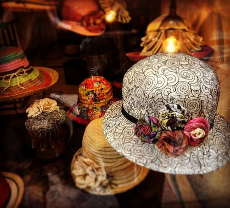 The hat Indoors  Art And Craft Still Life No People Close-up Craft Creativity Collection For Sale Illuminated Market Retail  Choice