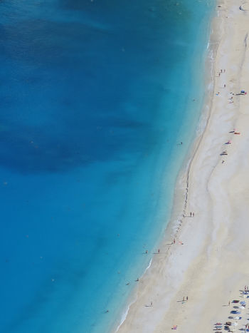 Flying High Cephalonia Greece Beach Blue Backgrounds Nature Outdoors Textured  Fromabove Nature Vacation Summer Beauty In Nature Tranquility Summer Exploratorium