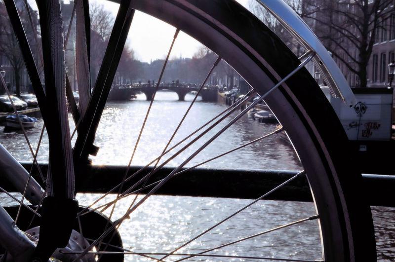Down bike City Watermill Winter Architecture