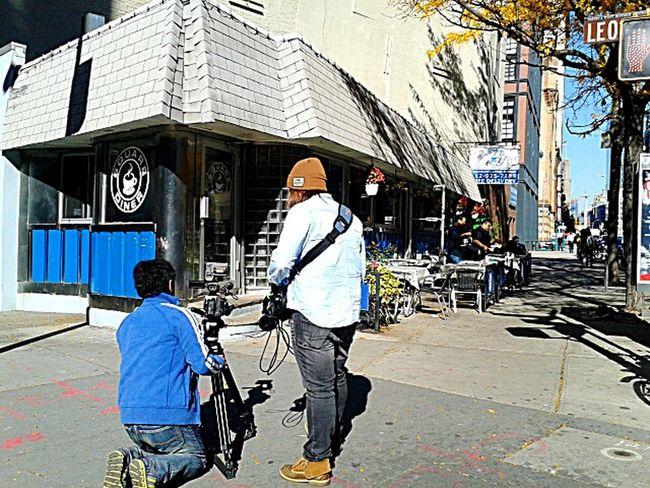 THESE Are My Friends setting up the corner shot.photo by Shell Sheddy Freelance Life This Week On Eyeem Shellsheddyphotography Sheshephoto NYC Street