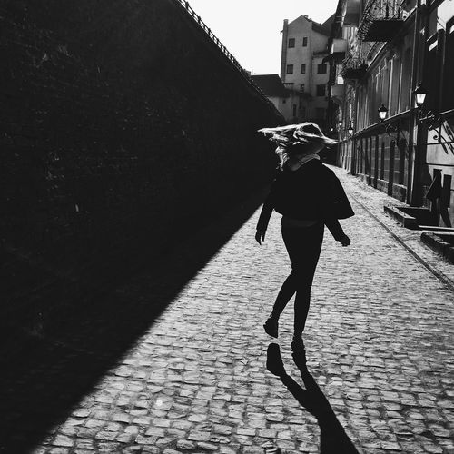 One Person Full Length People Day Silhouette Shadow Sky Blackandwhite Photography Black And White Blackandwhite EyeEm Selects First Eyeem Photo Architecture Women Young Women One Woman Only Travel Destinations Real People Travel City Sunset