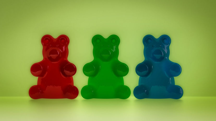Gummy bears in