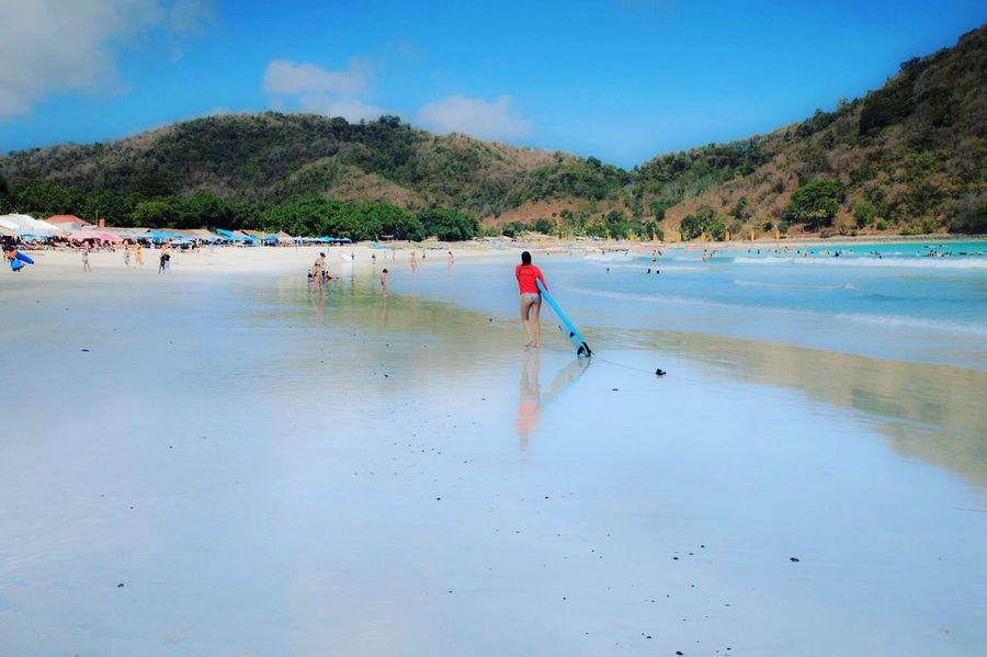 Selong Belanak, Lombok Water Real People Land Mountain