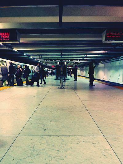 Subway Station Bart Station Rush Hour Off Work Waiting City Life Urban Lifestyle