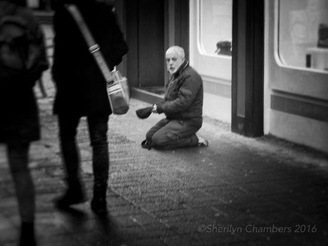 Homeless Trier Beggar Blackandwhite