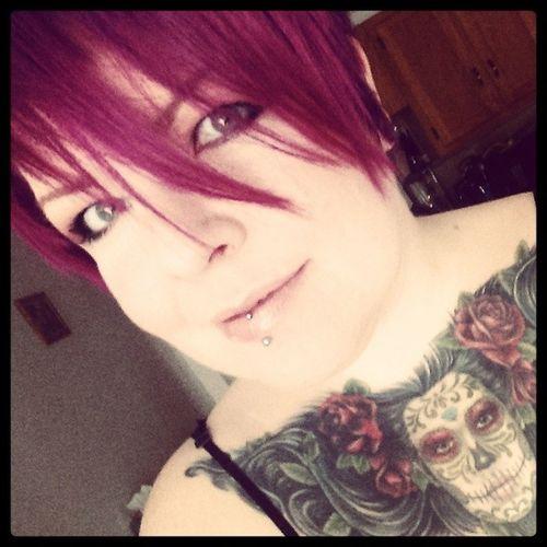 Wine hair!!! Dyedgirlies Hairdye Haircolor Crazycolor