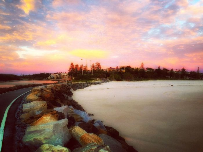 Sunset Sky Scenics Beauty In Nature Nature Cloud - Sky Orange Color Tranquil Scene Landscape Travel Destinations