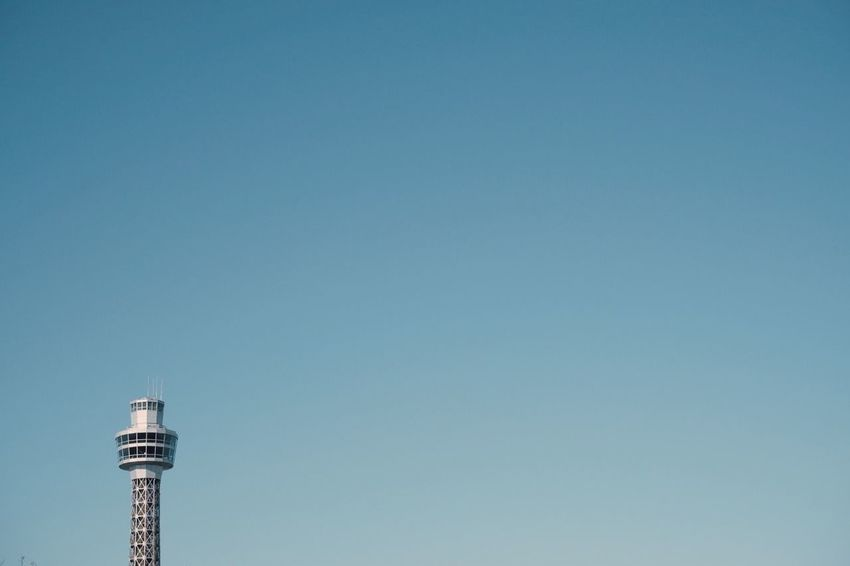 VSCO Streetphotography Yokohama Built Structure Architecture Sky Copy Space Tower Building Exterior Clear Sky Building Low Angle View Blue No People Nature Day Tourism Travel