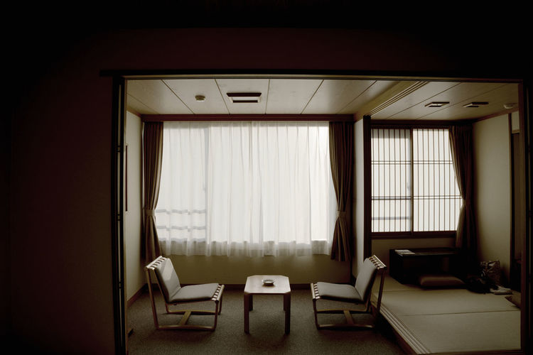 Japanese hotel room (Ryokan) Japanese Hotel The Traveler - 2018 EyeEm Awards Absence Chair Furniture Hotel Room Indoors  No People Seat Table Tranquilly Scene Window