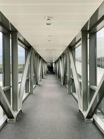 Empty corridor in airport