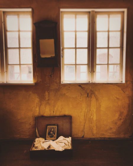 Picture of jesus christ in abandoned house