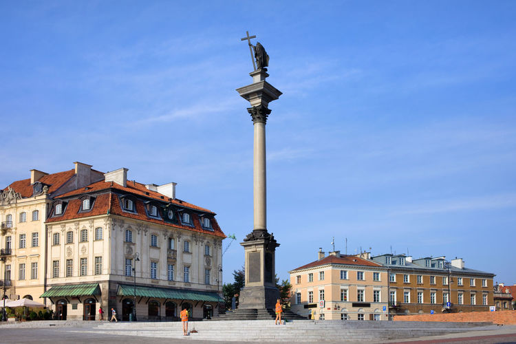Column and statue of King Sigismund III Vasa in Warsaw, Poland Historical Building King Old Town Poland Sigismund's Column Statue Warsaw Warszawa  Architectural Column Architecture Building Building Exterior Built Structure Capital City City Column Europe Famous Place History House King - Royal Person Sculpture Sigismund Iii Vasa Statue Travel Destinations