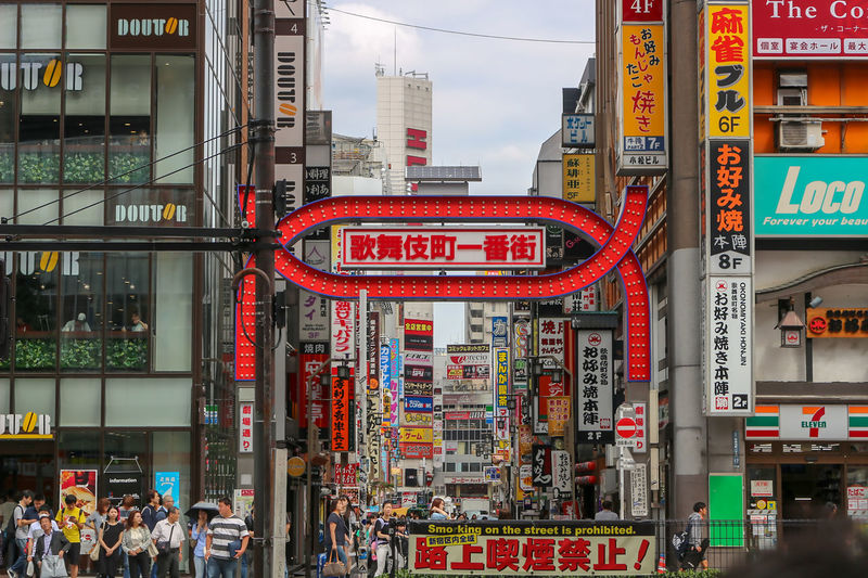 Kabukicho Main Gate, Shinjuku Tokyo, Japan Sept, 2017 Japan Japan Photography Kabukicho Kabukicho Tower Shinjuku Tokyo Shinjuku,tokyo Architecture Building Exterior Built Structure City Communication Day Large Group Of People Outdoors Red Sky Store Text Western Script Neon
