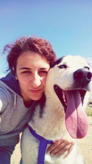 Walking Around With My Husky I LOVE HIM♥