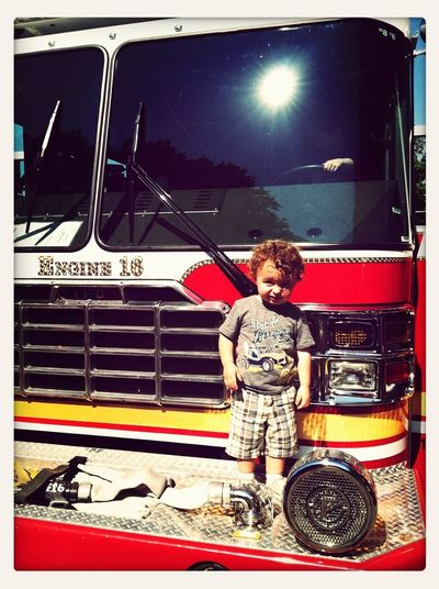 Touch-A-Truck....fire truck Hanging Out