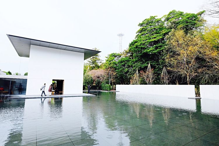 I felt in love this Architecture mMuseumBuilding Calm Freedom Water Water Reflections Taking Photos Eye4photography  From My Point Of View Zen Buddhism Traveling Winter Landscape