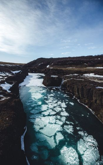 Freezing rivers Winter Ice Iceland River Water Nature Beauty In Nature Outdoors Tranquility Sky Tranquil Scene No People Scenics Hot Spring