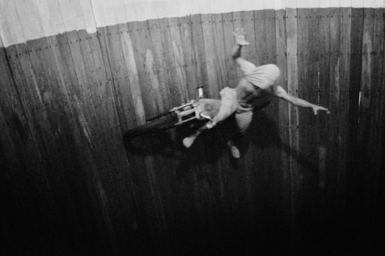Well of Death Action Adult Black And White Blackandwhite Day Full Length Indoors  Men Motordome Noise People Performance Real People Silodrom Stunt Wallofdeath Wellofdeath Women Young Adult The Photojournalist - 2017 EyeEm Awards BYOPaper! Live For The Story