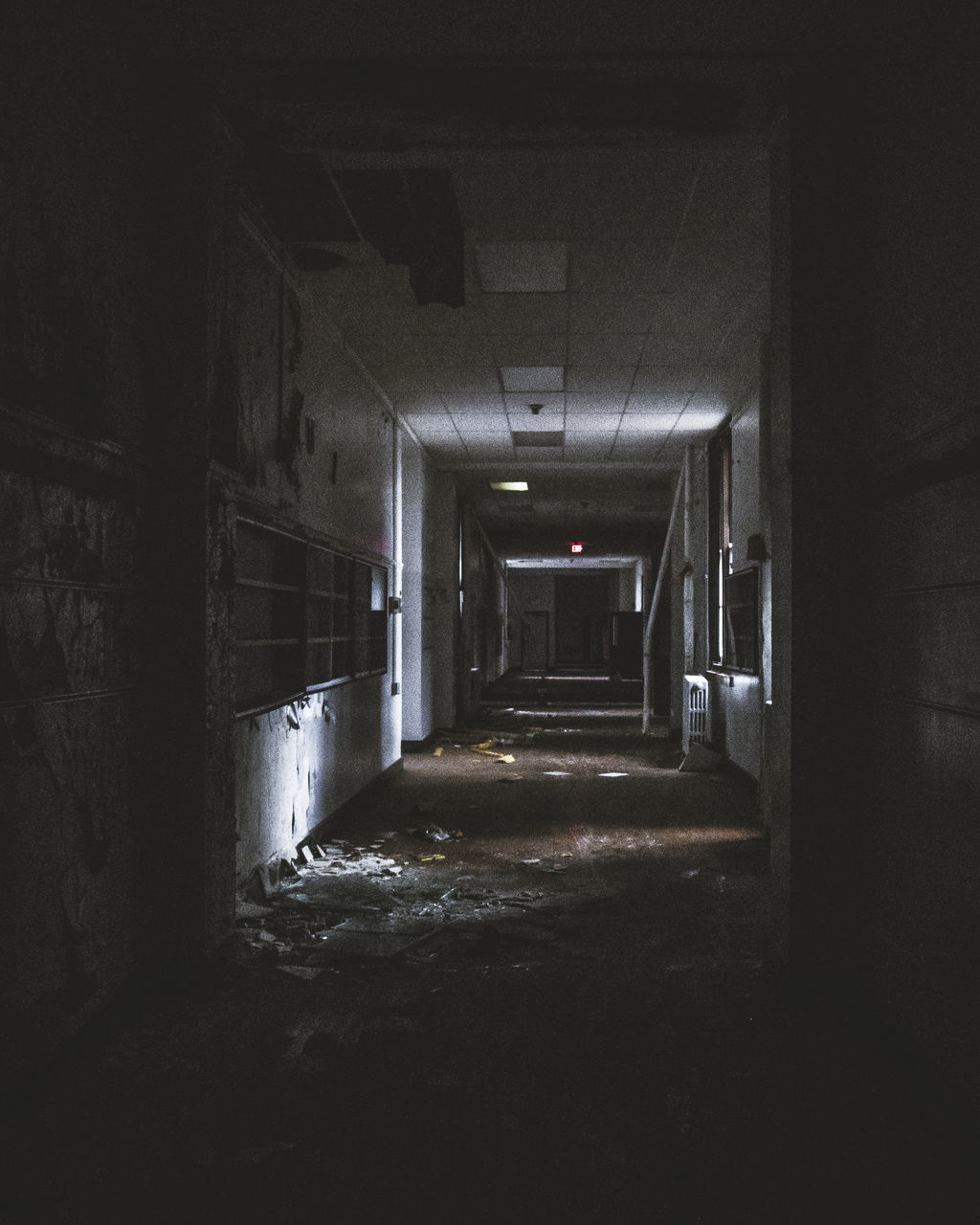 Inside View Of Abandoned Building
