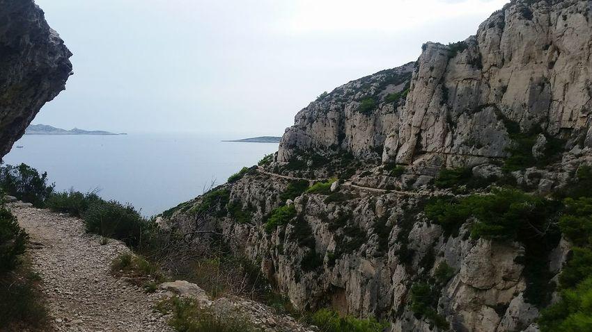 the path Water Sea Beach Tree Rock - Object Rocky Coastline Rugged Rock Arid Arid Landscape Coastline