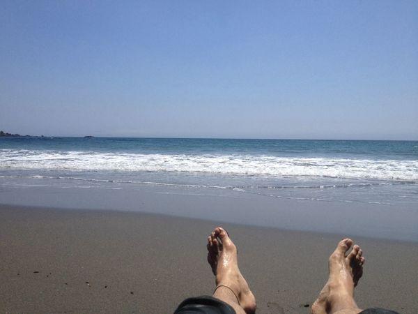 Enjoying The Sun Getting A Tan Sea Relaxing