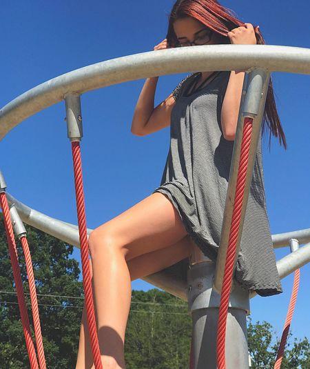 Park Dana  Playground Jungle Gym Clear Sky Climbing Low Angle View