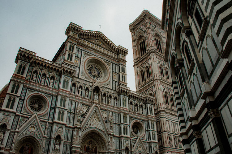 Florence immertion Building Exterior Architecture Low Angle View Built Structure Building Place Of Worship Belief Religion Spirituality Sky Rose Window No People Travel Destinations The Past History Day Arch Ornate Gothic Style Florence Florence Italy