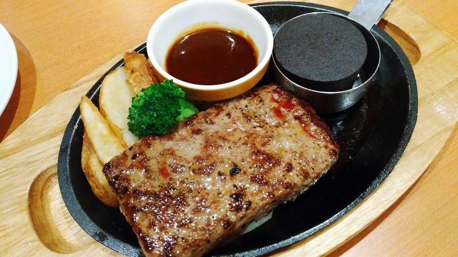 明日のエネルギーチャージ😋 Food Food And Drink Meal Meat Beef Steak Beef Hamburg Steak Hamburg Lunch Dinner