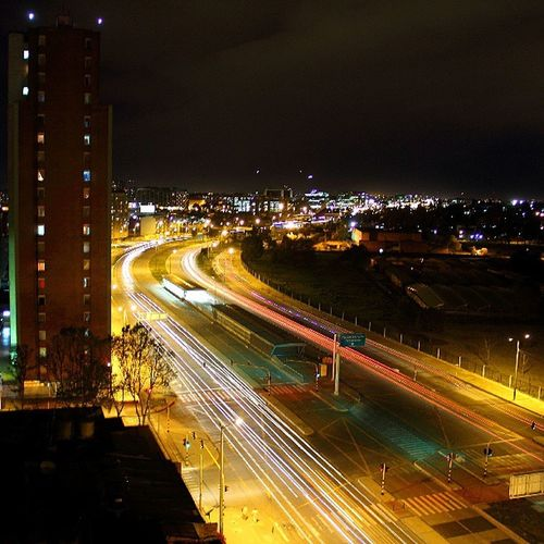 Long Exposure Night Lights Bogotá Cundinamarca Colombia P7taylor Epicearthco
