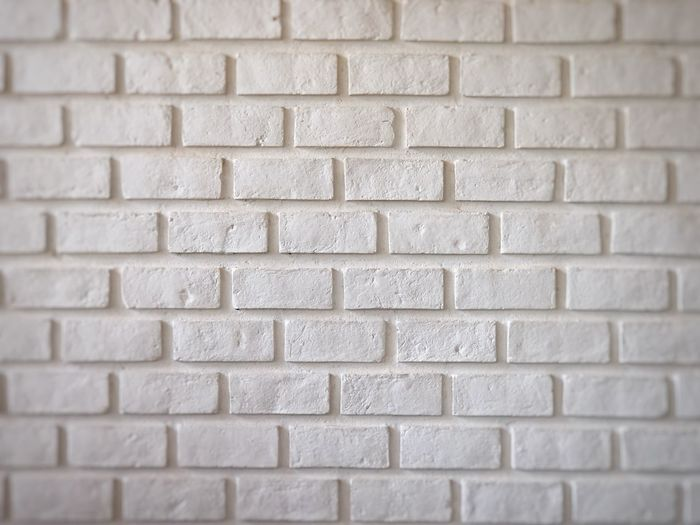 White vintage brick wall for space backgrpund Pattern Full Frame Backgrounds Textured  Brick Wall Wall - Building Feature No People Rectangle Shape Geometric Shape White Color Architecture Square Shape Close-up Brick Wall Built Structure Repetition Design Day