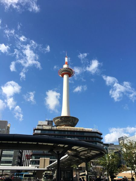 Kyoto Tower Architecture Blue Sky Cityscape Day No People Tourism Travel Destinations