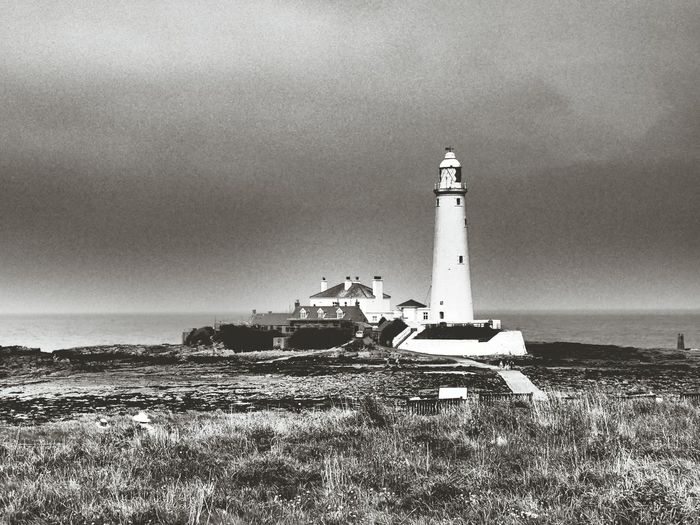 St Marys lighthouse Lighthouse North East Northumberland St Mary's Lighthouse Whitley Bay B&w Photography The Coast