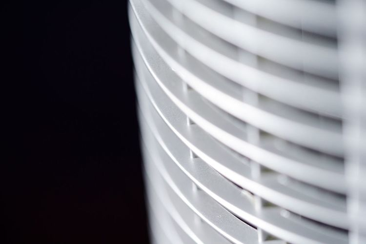 Ventilation Technology Ventilator Equipment Device Appliance Close-up Indoors  No People Pattern Still Life Selective Focus White Color Plastic Focus On Foreground Studio Shot Copy Space Striped