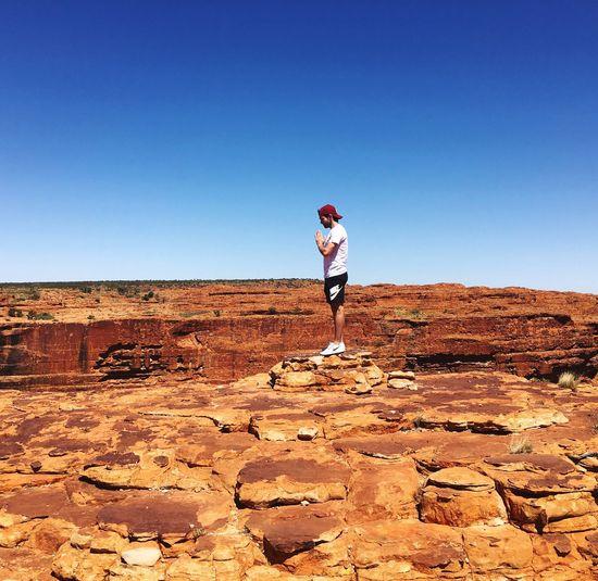 Canyon 🏜 Australia Australian Photographers Australian Landscape Sunny Alicesprings One Person Adventure Landscape Nature Desert Desert Beauty Desert Life Desertlife EyeEmNewHere