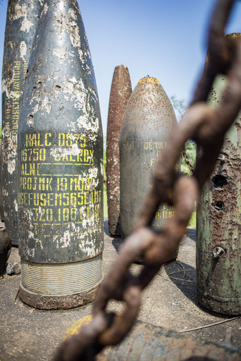 Vietnam 2018 VietCong Architecture Belief Bombs Bombshell Built Structure Close-up Day Focus On Background Metal Nature No People Outdoors Plant Religion Security Selective Focus Sky Spirituality Sunlight Text Tree Tunel Vietnamwar War