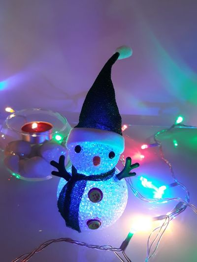 Christmastime Little Snowman Pupazzo Pupazzetti Natale  Christmas Lights Home Decor Home Decoration  Thank You My Friends 😊 Eyem Eyem Gallery EyEm Selects Eyem Chistmas Eyem Photography Eyem4photography Christmas Decoration Illuminated Christmas Lights Christmas Holiday - Event Close-up