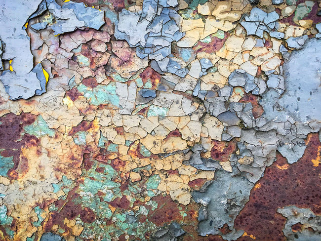 Flaking Pattern 002 Backgrounds Close-up Fragility Full Frame No People Outdoors Paint Rotting Away Textured  IPhone SE