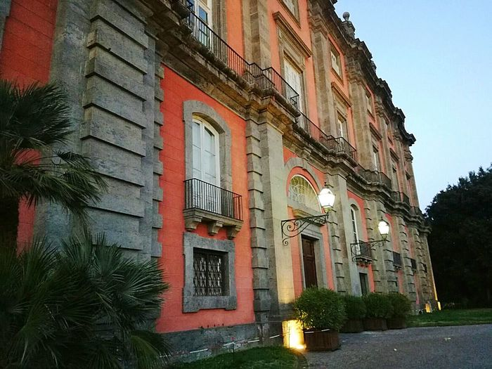 Architecture Building Exterior Tree Built Structure No People Outdoors Day Naples Napoli Italy Landscape Scenics Architecture Photography Architectural Design Architectural Photography Architecture & Statues Palace Palace Garden Palace Museum Palaces Royalpalace Borboni Sunset Colors Tree Area Travel