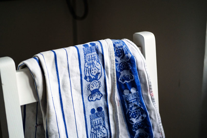 KItchen towel Dish Dishes IneriorDesign Lo Key Natural Textile Industry Choice Close-up Clothing Coathanger Day Dishwashing Everyday Gransmother Hanging Home Interior Indoors  Kitchen Towel No People Pattern Retail  Store Textile Towel Used