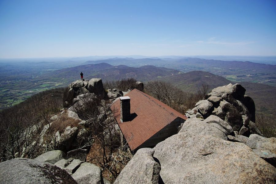 Sharp Top Vista Sharp Top Mountain Mountains Mountain Summit Hiking Nature Sky Scenics - Nature Sea Mountain Beauty In Nature Architecture Built Structure Day Building Exterior Tranquil Scene People Leisure Activity Outdoors High Angle View Real People