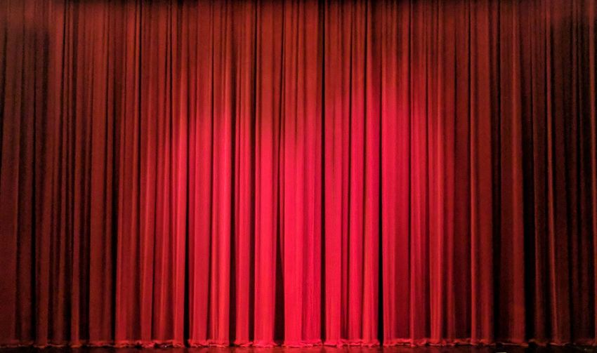 Red theatre curtain Curtain Stage - Performance Space Performance Performing Arts Event Stage Theater Red Theatrical Performance Backgrounds Arts Culture And Entertainment Textile Showing Vibrant Color Nightlife Movie Theater Film Industry Elégance Spot Lit Textured  Event Ceremony Be. Ready. Colour Your Horizn