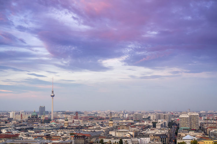 Panoramic views over Berlin Architecture Building Exterior Built Structure City Cityscape Cloud - Sky Communication Day Modern No People Outdoors Sky Skyscraper Tall - High Tower Travel Destinations Urban Skyline