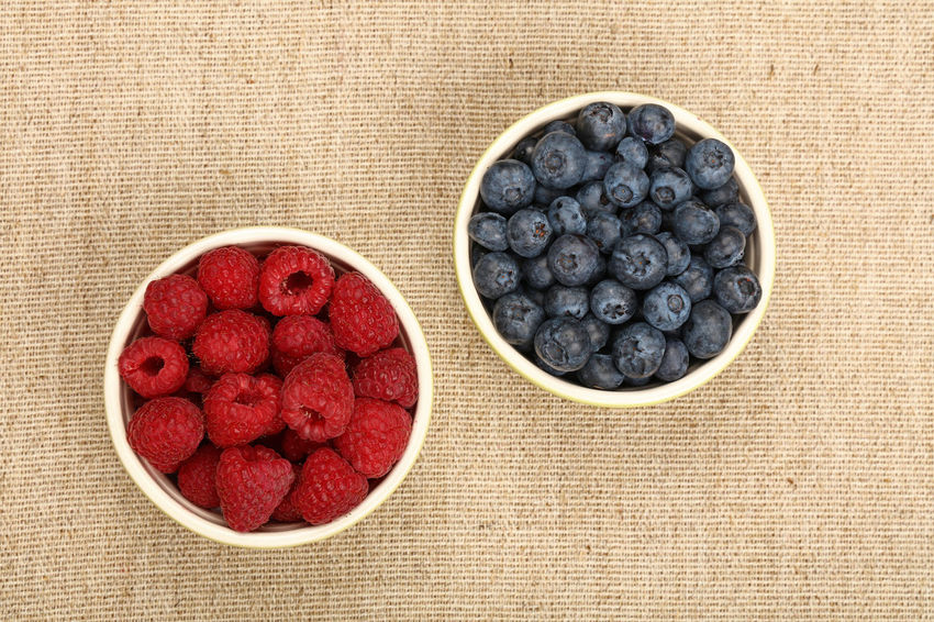 Fresh organic blueberry and raspberries in a bowls over canvas background Berry Berry Fruit Berrys Blueberries Blueberry Bowl Canvas Close-up Cup Food Food And Drink Freshness Fruit Healthy Eating Natural No People Organic Organic Food Raspberries Raspberry Rustic Rusty Studio Shot Summer Sweet Food