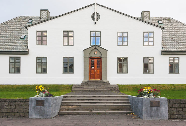 Minister's Office EyeEmNewHere Iceland Office Architecture Building Exterior Built Structure House Office Building Residential Building Simmetrical Building Order