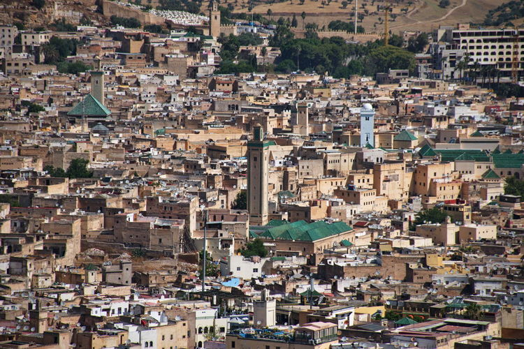 Scenic view of fes in morocco