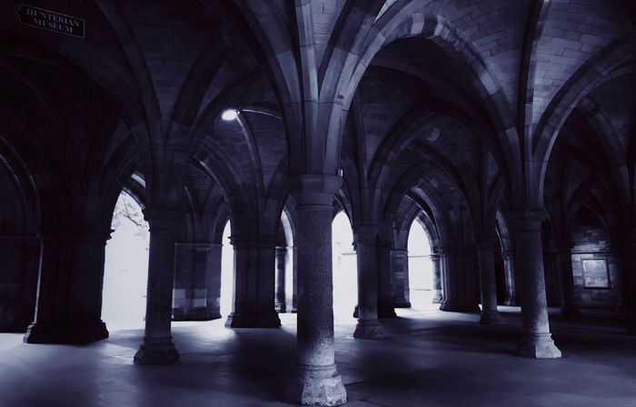 In an alternate universe. Arch Architectural Column Indoors  Architecture History Spirituality Built Structure No People Cloister Cloisters  University University Campus United Kingdom Glasgow  GlasgowUniversity EyeEmNewHere