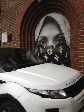 Covered Face Day Face And The Filthies Girl Indoors  One Person People Range Rover Relaxing Street Streetphotography White Car Woman Portrait Women