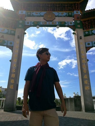 Taoist Temple TaoistTemple Chinese Temple One Man Only Only Men Sky Cloud - Sky One Person Adult People Low Angle View Day Outdoors