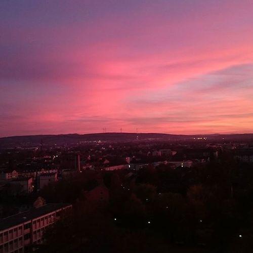 Kslive Casselfornia Cassel Kassel Kasselcity Himmel Herbstrot Herbst November Sky Skyline Abendrot Dämmerung Hna Wolke Nofilter