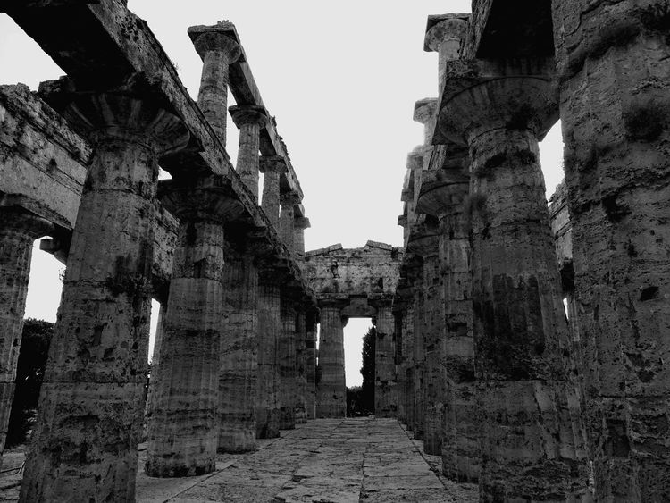 Taking Photos Hello World First Eyeem Photo Popular Photos Italy❤️ Greekstyle Hi! Paestum Capaccio Blackandwhite Temple Of Poseidon Campania
